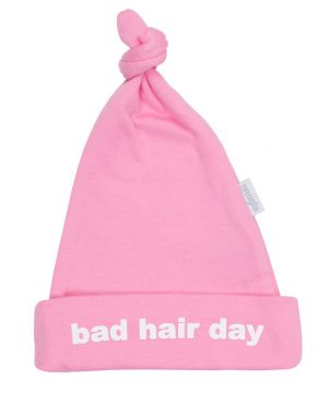 BAD HAIR DAY baby pink cute hat