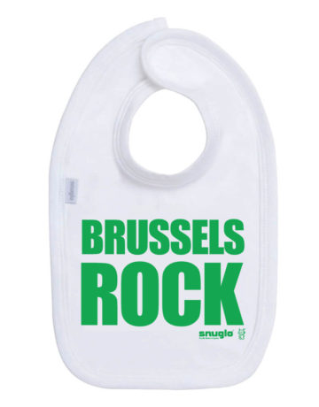 Brussels Rock cool christmas baby bib