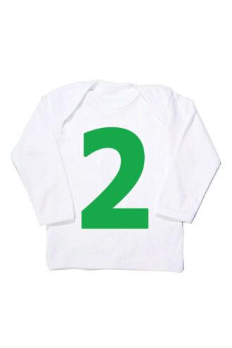 I AM 2 Green T Shirt Unusual First Birthday Gift