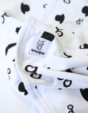 Snuglo™ supersoft, moustache pattern comfort blanket