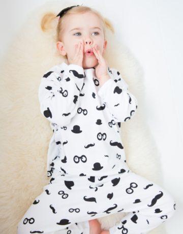Moustache Pattern Kids Pyjamas by Snuglo‰