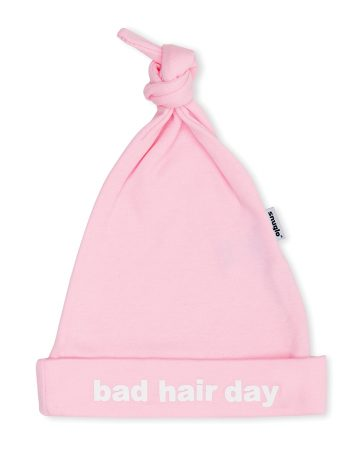 BAD HAIR DAY Baby Hat - Baby Pink