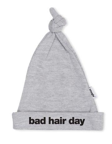 BAD HAIR DAY cute grey baby hat