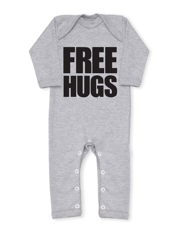 FREE HUGS Cool Grey All In One