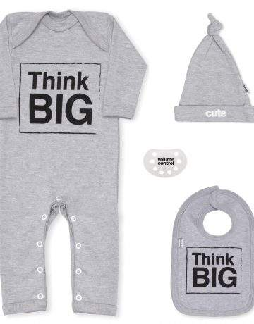 Think Big Grey Newborn Baby Gift Set