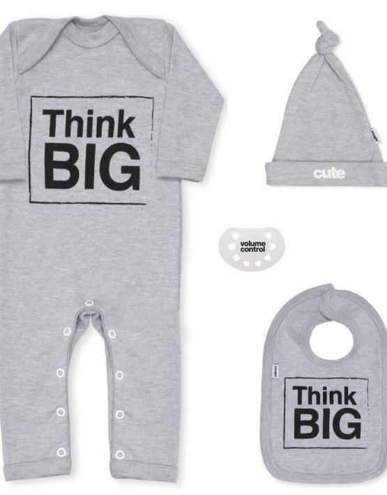 Think Big Grey Newborn Baby Gift Set