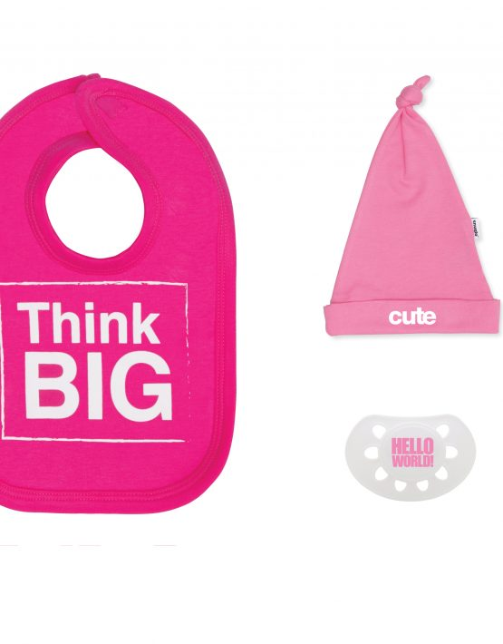 think big pink baby gift set